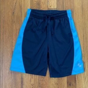 Blue sport shorts